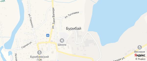 Улица Минниахмета Муталова на карте села Бурибая с номерами домов