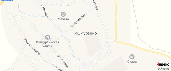 Лесная улица на карте села Ишмурзино с номерами домов