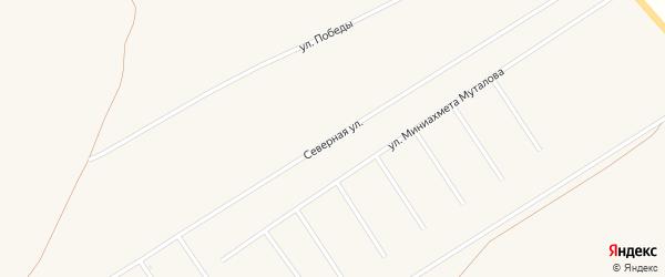 Северная улица на карте села Бурибая с номерами домов