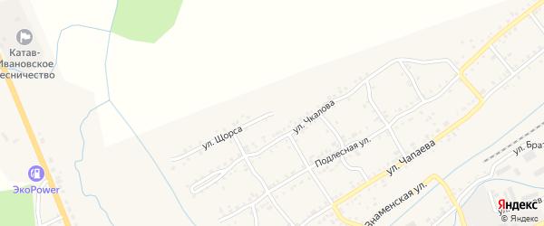 Улица Щорса на карте Катава-Ивановска с номерами домов