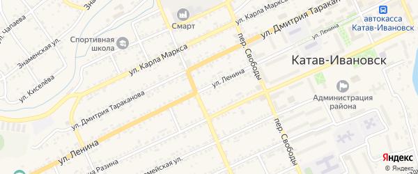 Улица Ленина на карте Катава-Ивановска с номерами домов