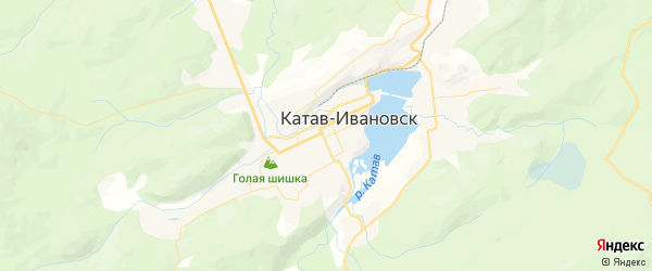 Карта Катава-Ивановска с районами, улицами и номерами домов