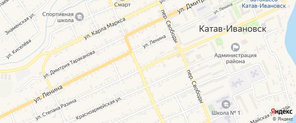 Улица Цементников на карте Катава-Ивановска с номерами домов