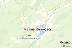 Карта г. Катав-Ивановск Челябинская область