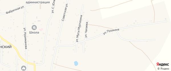 Улица Чапаева на карте села Тубинского с номерами домов