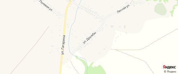 Улица Дружбы на карте села Уткалево с номерами домов
