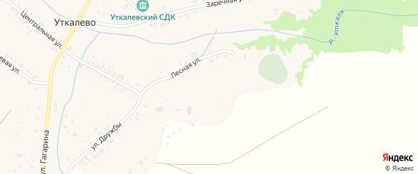 Лесная улица на карте села Уткалево с номерами домов