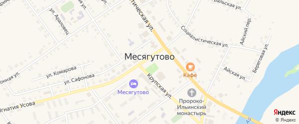Медицинская улица на карте села Месягутово с номерами домов