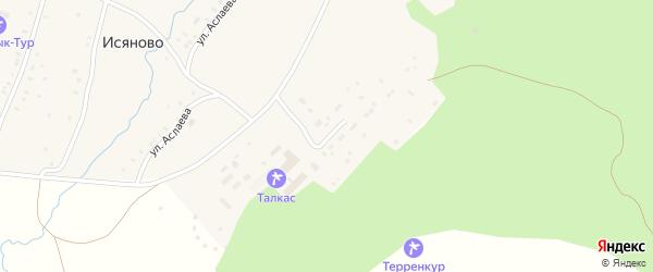 Ирандыкская улица на карте деревни Исяново Башкортостана с номерами домов