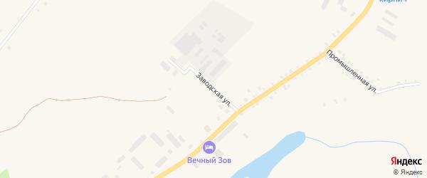 Заводская улица на карте села Месягутово с номерами домов