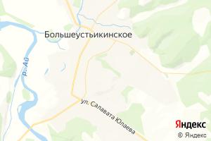 Карта с. Большеустьикинское Республика Башкортостан