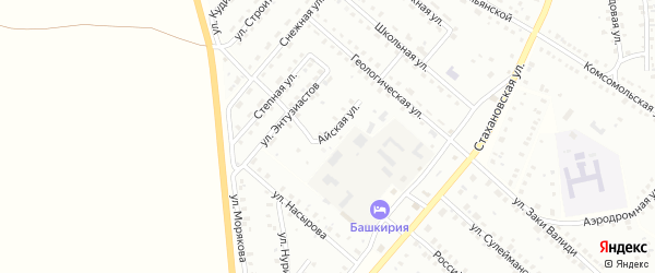 Айская улица на карте Баймака с номерами домов
