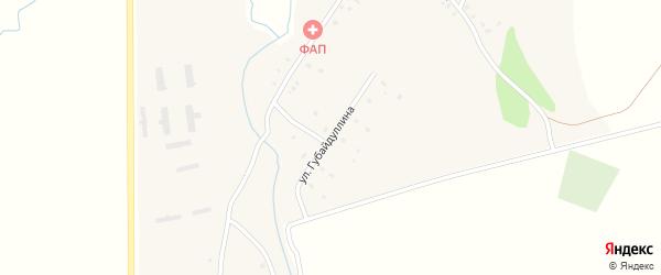 Улица Губайдуллина на карте деревни Рафиково с номерами домов