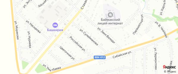 Улица Г.Сулейманова на карте Баймака с номерами домов