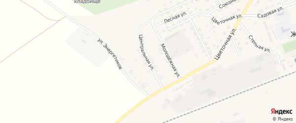 Центральная улица на карте села Железнодорожного с номерами домов