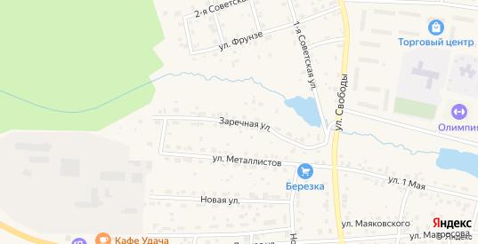 Заречная улица в Горнозаводске с номерами домов на карте. Спутник и схема онлайн