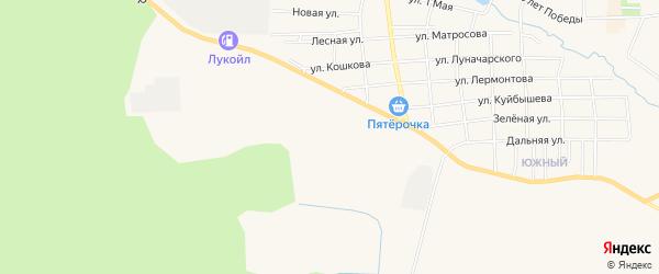 Карта микрорайона Дружбы города Горнозаводска в Пермском крае с улицами и номерами домов