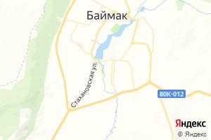 Карта г. Баймак Республика Башкортостан