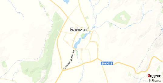Карта Баймака с улицами и домами подробная. Показать со спутника номера домов онлайн