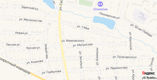 Улица Маяковского в Горнозаводске с номерами домов на карте. Спутник и схема онлайн