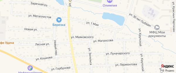 Улица Маяковского на карте Горнозаводска с номерами домов