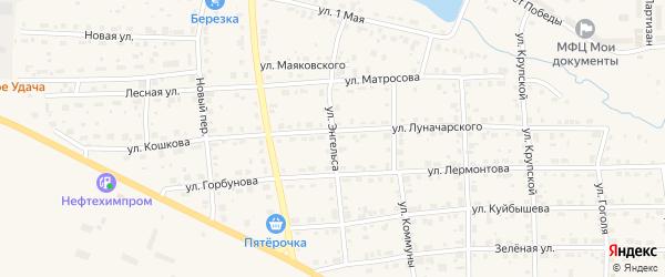 Улица Ф.Энгельса на карте Горнозаводска с номерами домов