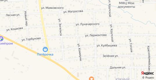 Улица Коммуны в Горнозаводске с номерами домов на карте. Спутник и схема онлайн