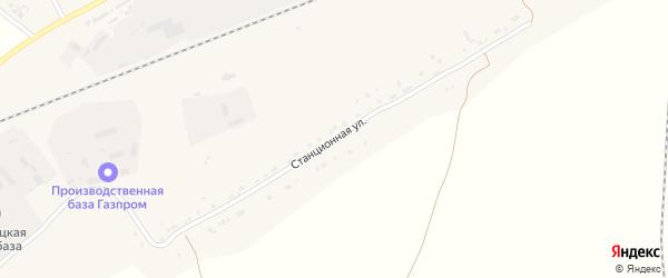 Станционная улица на карте Белорецка с номерами домов