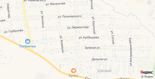 Улица Максима Горького в Горнозаводске с номерами домов на карте. Спутник и схема онлайн
