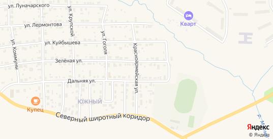 Красноармейская улица в Горнозаводске с номерами домов на карте. Спутник и схема онлайн