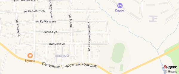 Красноармейская улица на карте Горнозаводска с номерами домов