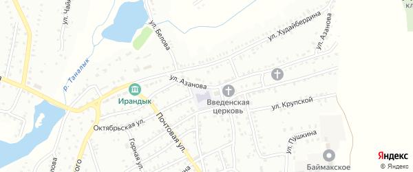 Улица Л.Азанова на карте Баймака с номерами домов