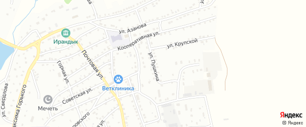 Улица А.Асфандиярова на карте Баймака с номерами домов
