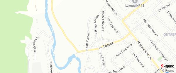 Гоголя 3-й переулок на карте Белорецка с номерами домов