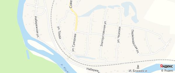 Ульяновская улица на карте поселка Вязовой с номерами домов