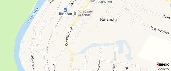Улица Николаева на карте поселка Вязовой с номерами домов