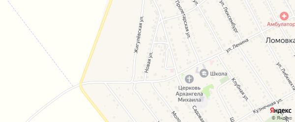 Новая улица на карте села Ломовка с номерами домов