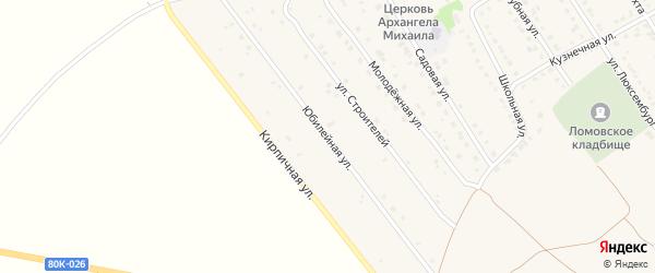 Юбилейная улица на карте села Ломовка с номерами домов