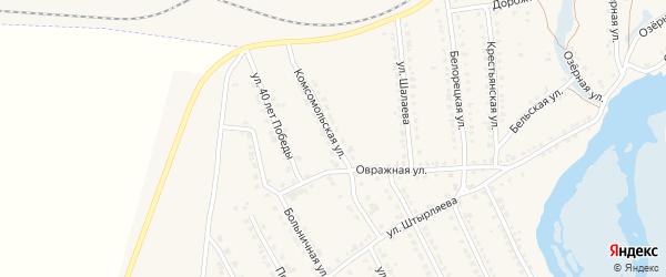 Комсомольская улица на карте села Ломовка с номерами домов
