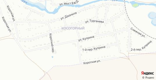 Куприна 1-й переулок в Белорецке с номерами домов на карте. Спутник и схема онлайн