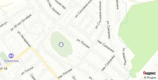 Улица Попова в Белорецке с номерами домов на карте. Спутник и схема онлайн