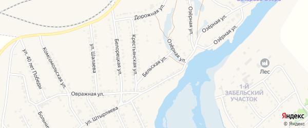 Бельская улица на карте села Ломовка с номерами домов