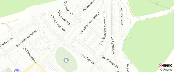 Сосновый 2-й переулок на карте Белорецка с номерами домов