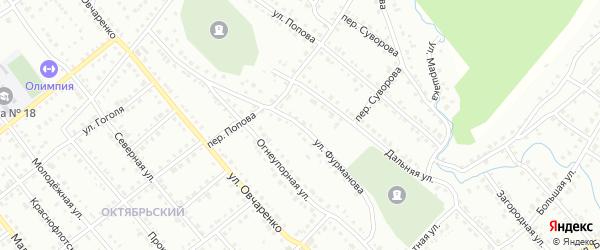 Улица Фурманова на карте Белорецка с номерами домов