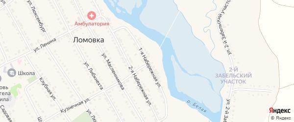 1 Набережная улица на карте села Ломовка с номерами домов