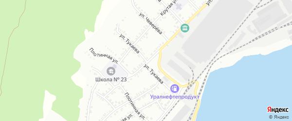 Улица Тукаева на карте Белорецка с номерами домов