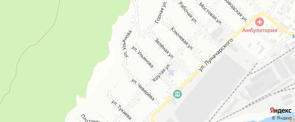 Улица Ульянова на карте Белорецка с номерами домов