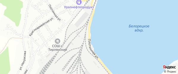 Плотинная улица на карте Белорецка с номерами домов