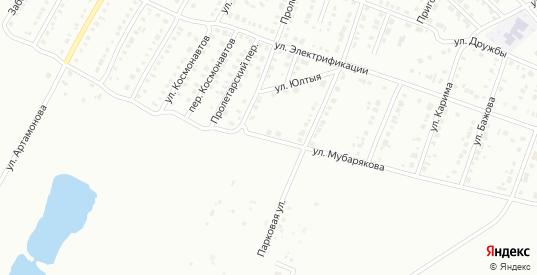 Улица Мубарякова в Белорецке с номерами домов на карте. Спутник и схема онлайн