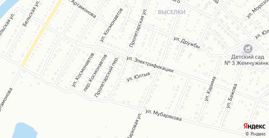Переулок Электрификации в Белорецке с номерами домов на карте. Спутник и схема онлайн